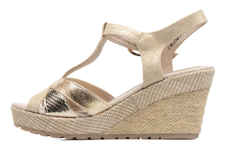 Sandales et nu-pieds Marco Tozzi Ifare Or et bronze vue face