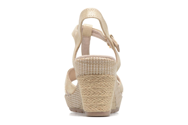 Sandales et nu-pieds Marco Tozzi Ifare Or et bronze vue droite