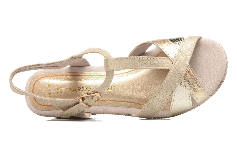 Sandales et nu-pieds Marco Tozzi Ifare Or et bronze vue gauche
