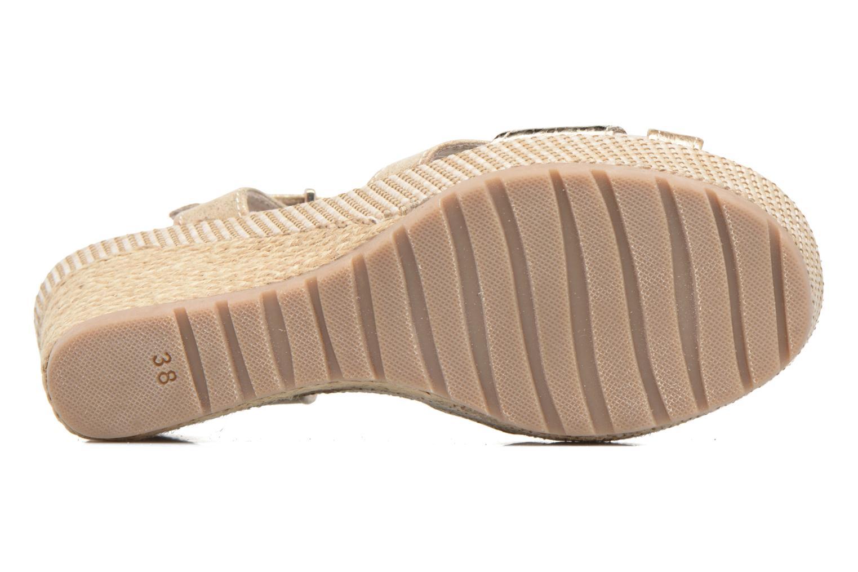 Sandales et nu-pieds Marco Tozzi Ifare Or et bronze vue haut