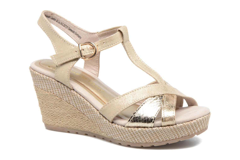 Sandales et nu-pieds Marco Tozzi Ifare Or et bronze vue détail/paire