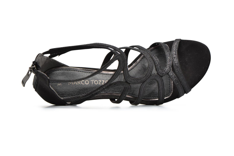 Sandales et nu-pieds Marco Tozzi Samo Noir vue gauche