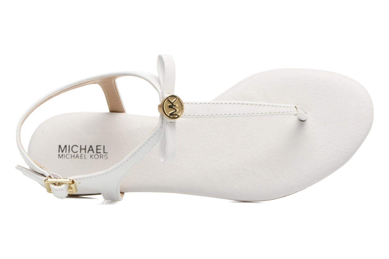 Sandales et nu-pieds Michael Michael Kors Zia-Demi Josie Blanc vue gauche