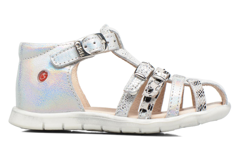 Sandales et nu-pieds GBB Perle Argent vue derrière