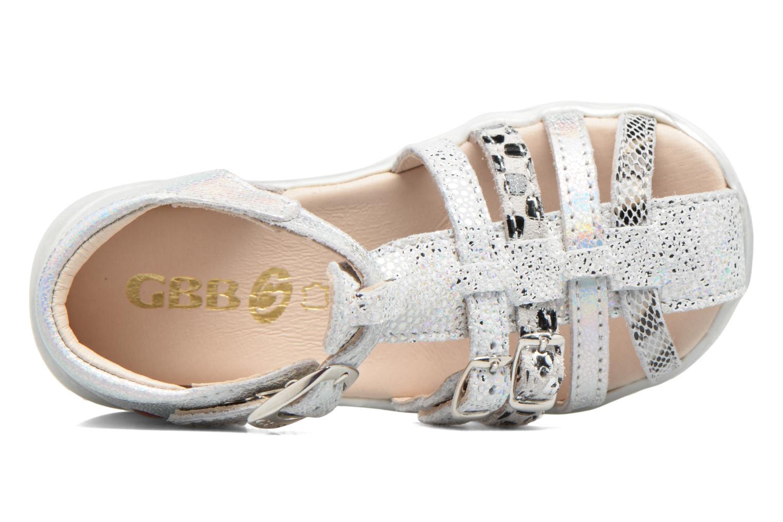 Sandales et nu-pieds GBB Perle Argent vue gauche