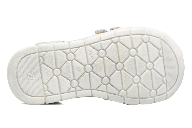 Sandales et nu-pieds GBB Perle Argent vue haut