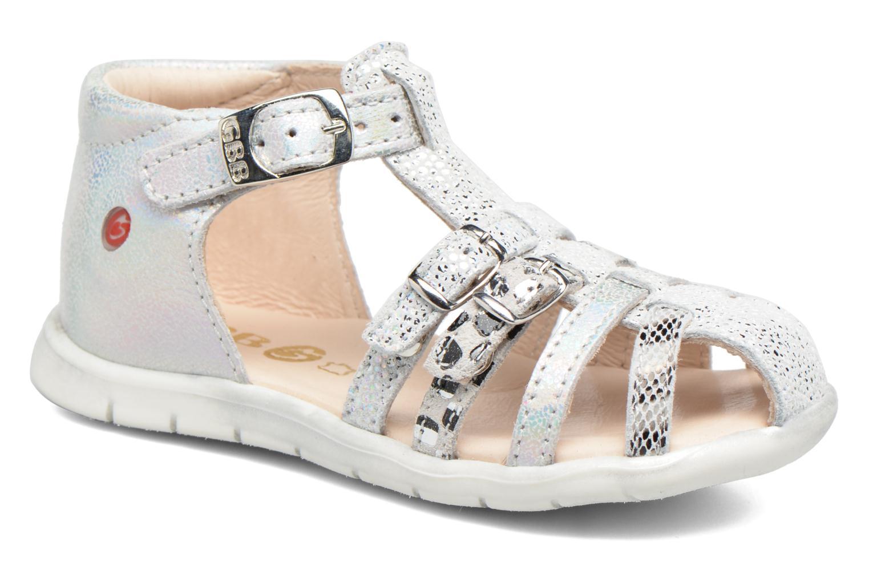 Sandales et nu-pieds GBB Perle Argent vue détail/paire