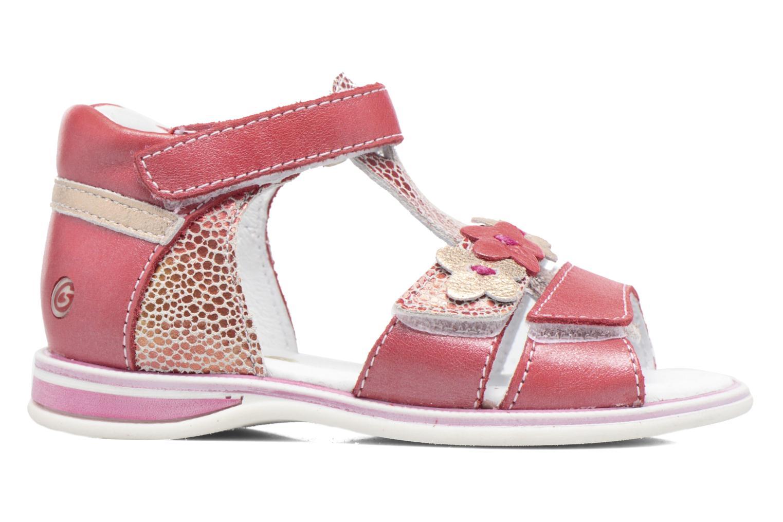 Sandales et nu-pieds GBB Ping Rose vue derrière