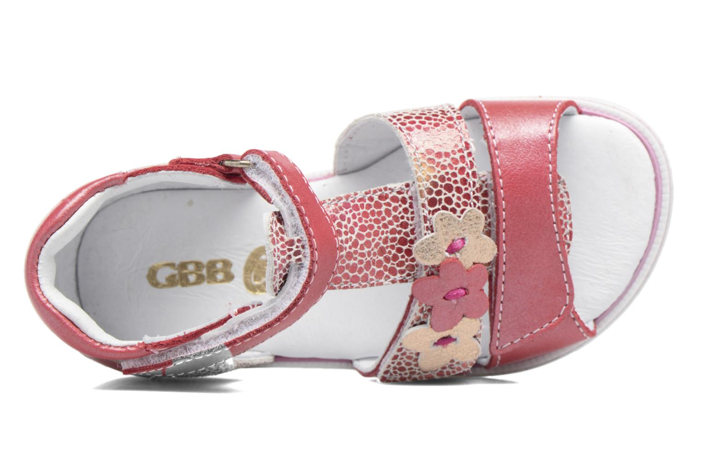 Sandales et nu-pieds GBB Ping Rose vue gauche