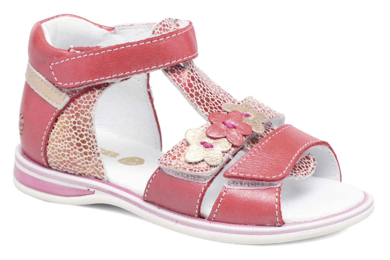 Sandales et nu-pieds GBB Ping Rose vue détail/paire