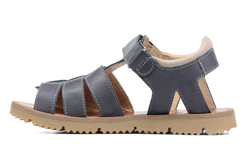 Sandales et nu-pieds GBB Pathe Bleu vue face