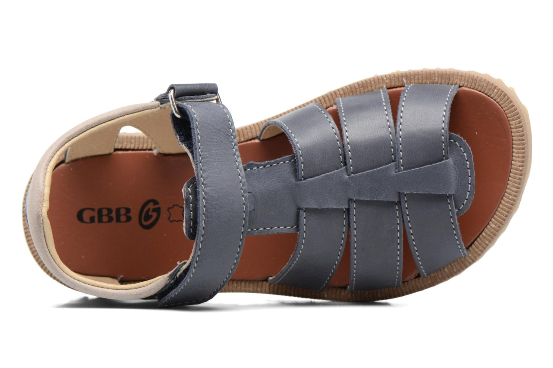Sandales et nu-pieds GBB Pathe Bleu vue gauche
