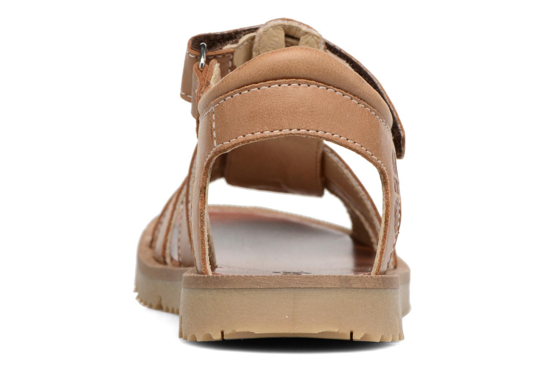 Sandales et nu-pieds GBB Pathe Marron vue droite