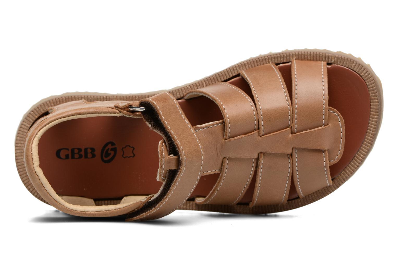 Sandales et nu-pieds GBB Pathe Marron vue gauche