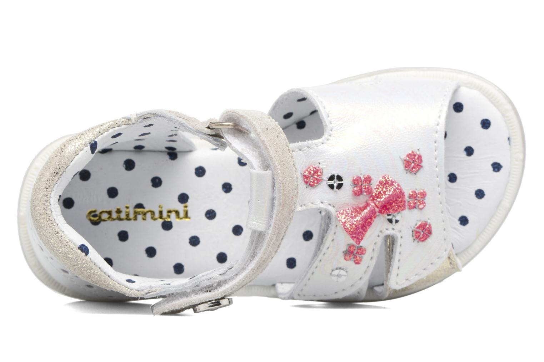 Sandales et nu-pieds Catimini Puce Argent vue gauche