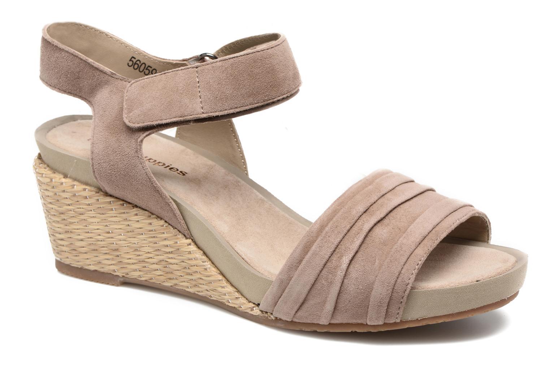 Sandales et nu-pieds Hush Puppies Eivee Beige vue détail/paire