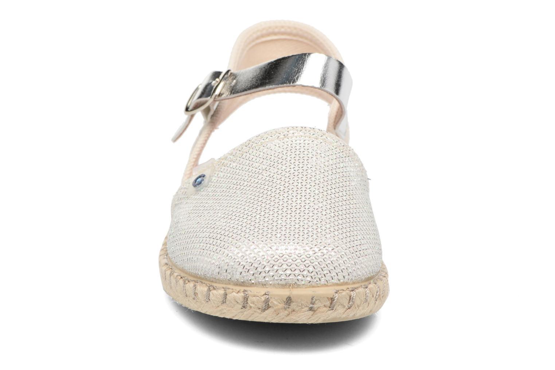 Sandales et nu-pieds Conguitos Elena Argent vue portées chaussures