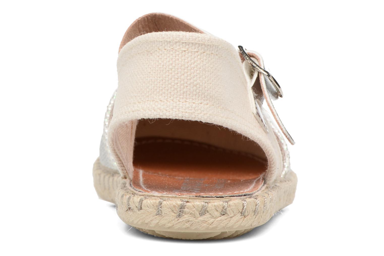 Sandales et nu-pieds Conguitos Elena Argent vue droite