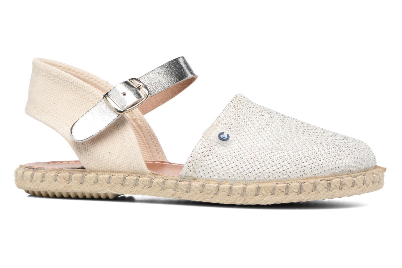 Sandales et nu-pieds Conguitos Elena Argent vue derrière