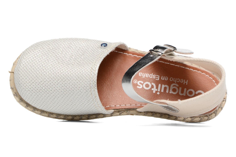 Sandales et nu-pieds Conguitos Elena Argent vue gauche