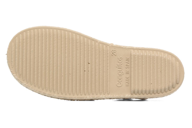 Sandales et nu-pieds Conguitos Elena Argent vue haut