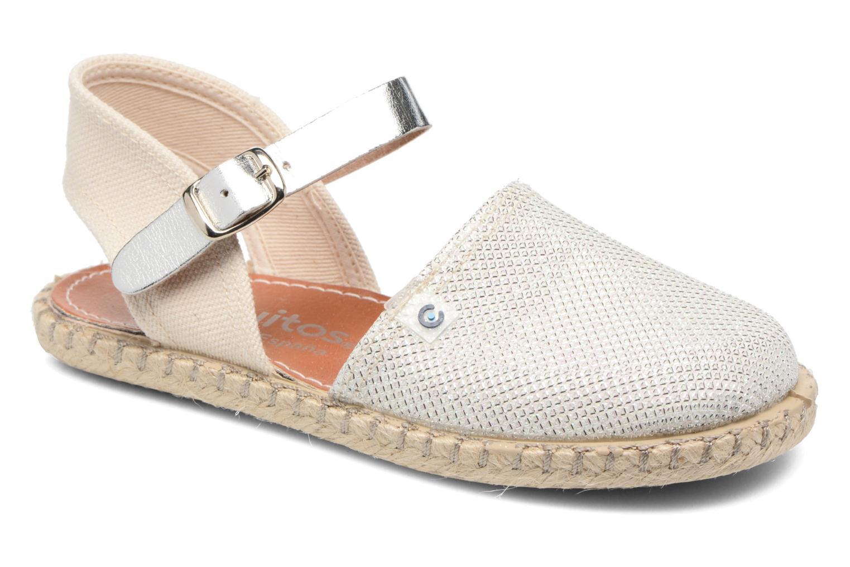 Sandales et nu-pieds Conguitos Elena Argent vue détail/paire