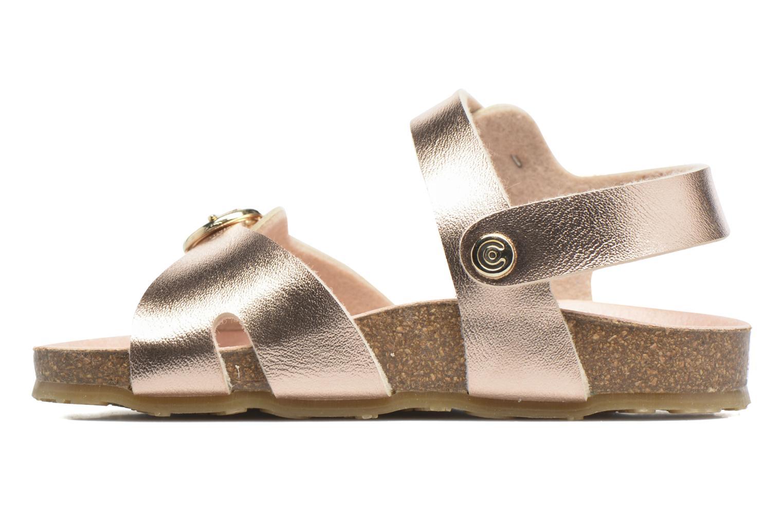 Sandales et nu-pieds Osito by Conguitos Begona Or et bronze vue face