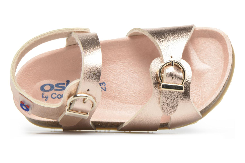Sandales et nu-pieds Osito by Conguitos Begona Or et bronze vue gauche
