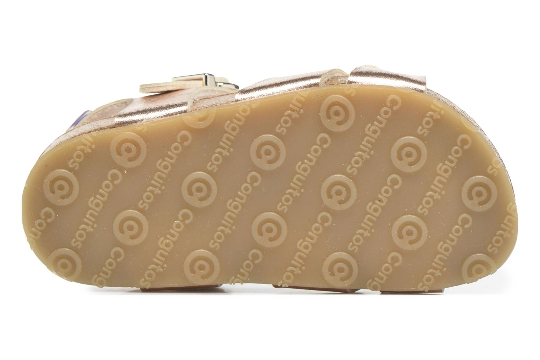 Sandales et nu-pieds Osito by Conguitos Begona Or et bronze vue haut