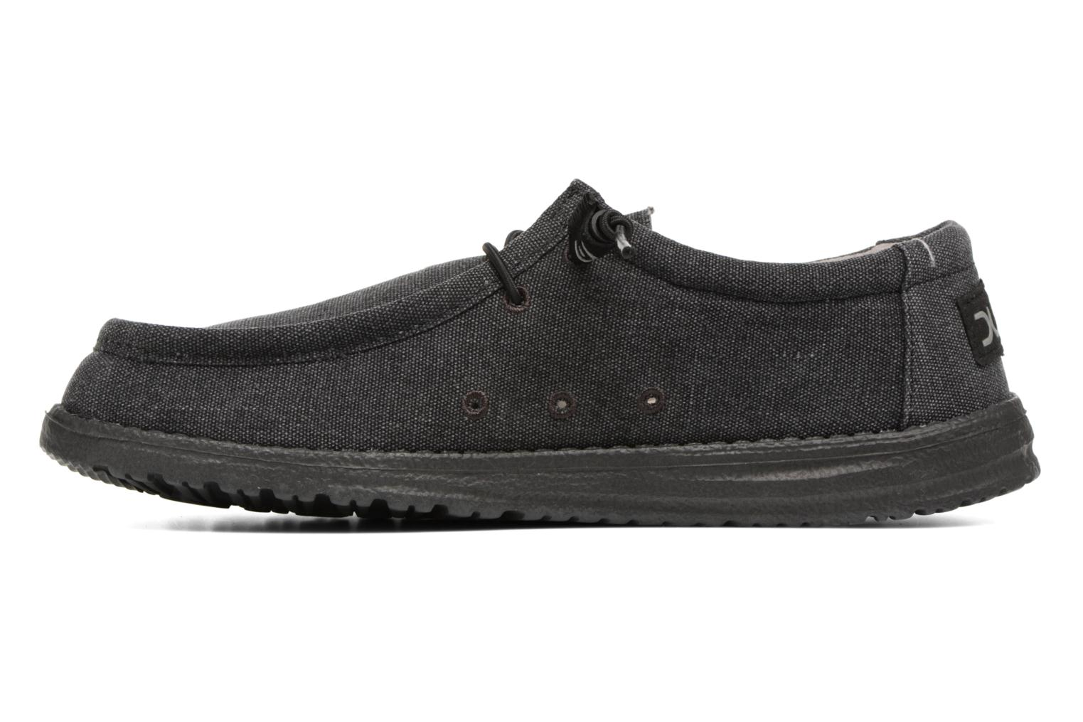 Lace-up shoes DUDE Wally Classic Black front view