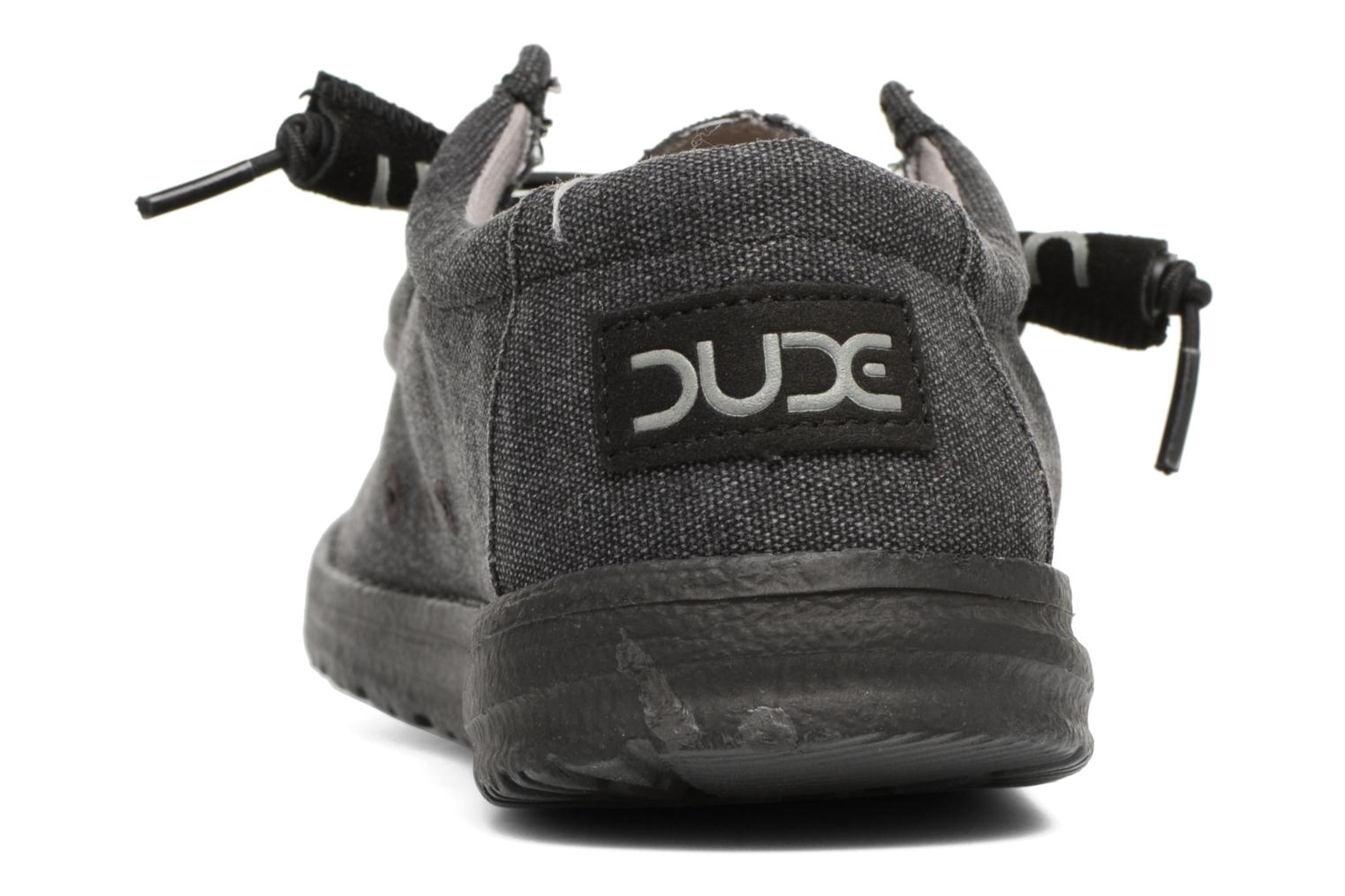 Lace-up shoes DUDE Wally Classic Black view from the right