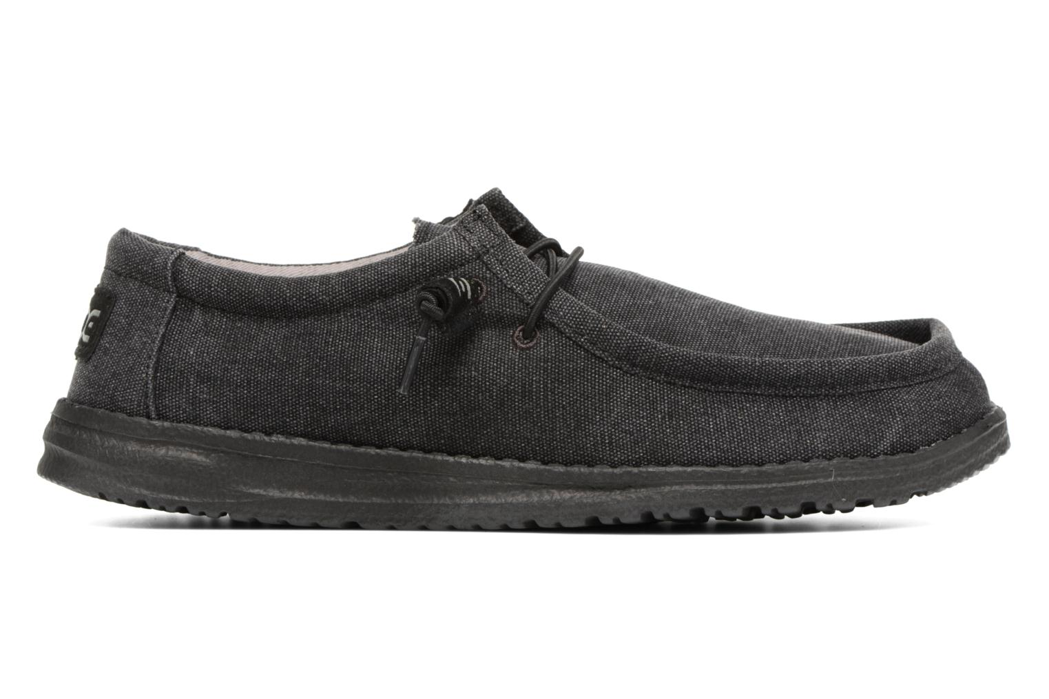 Lace-up shoes DUDE Wally Classic Black back view