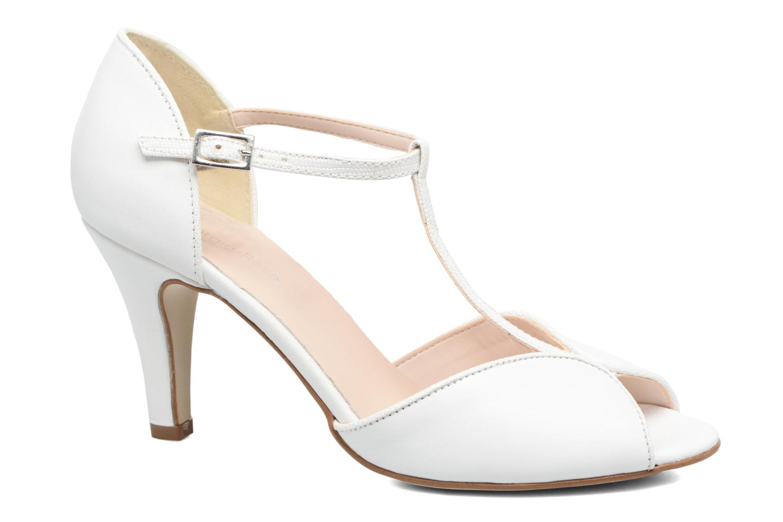 High heels Georgia Rose Gitango 3 White detailed view/ Pair view
