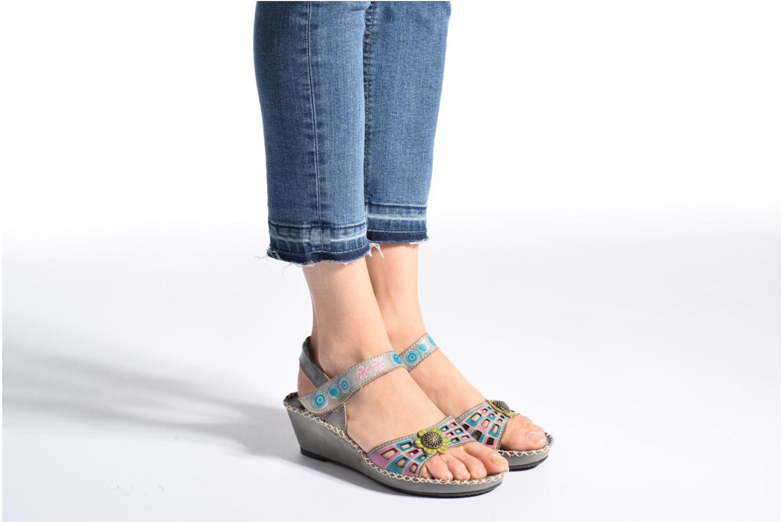 Sandales et nu-pieds Laura Vita Betsy 38 Multicolore vue bas / vue portée sac