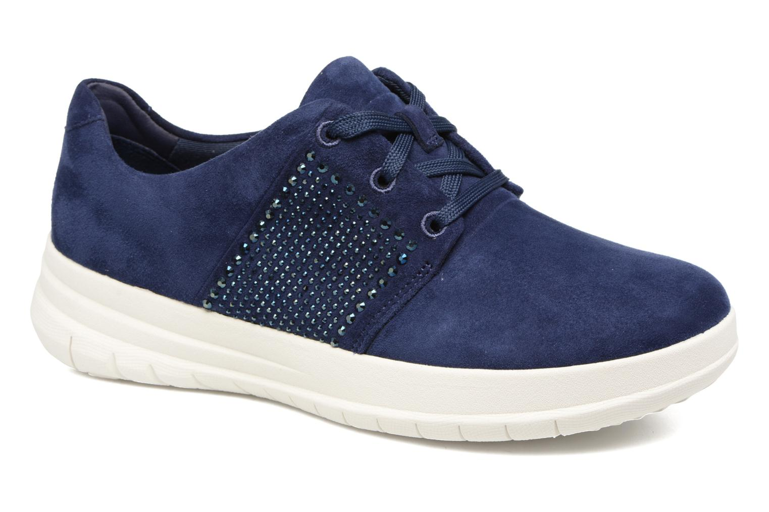 Marques Chaussure femme FitFlop femme Sporty-Pop X CRYSTAL Sneaker Midnight Navy