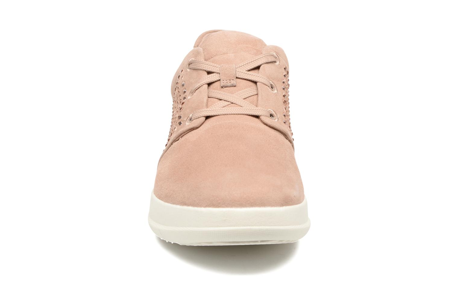 Baskets FitFlop Sporty-Pop X CRYSTAL Sneaker Rose vue portées chaussures
