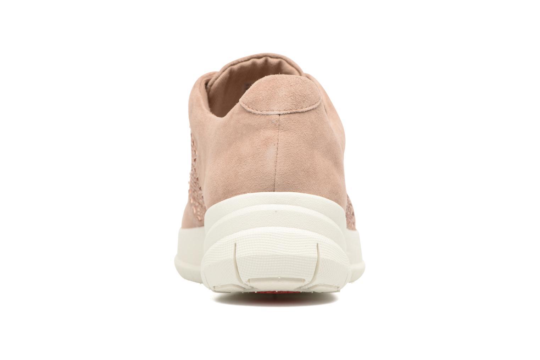 Baskets FitFlop Sporty-Pop X CRYSTAL Sneaker Rose vue droite