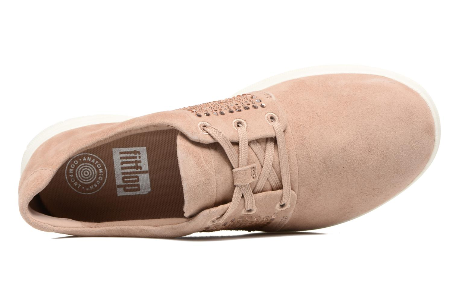 Trainers FitFlop Sporty-Pop X CRYSTAL Sneaker Pink view from the left