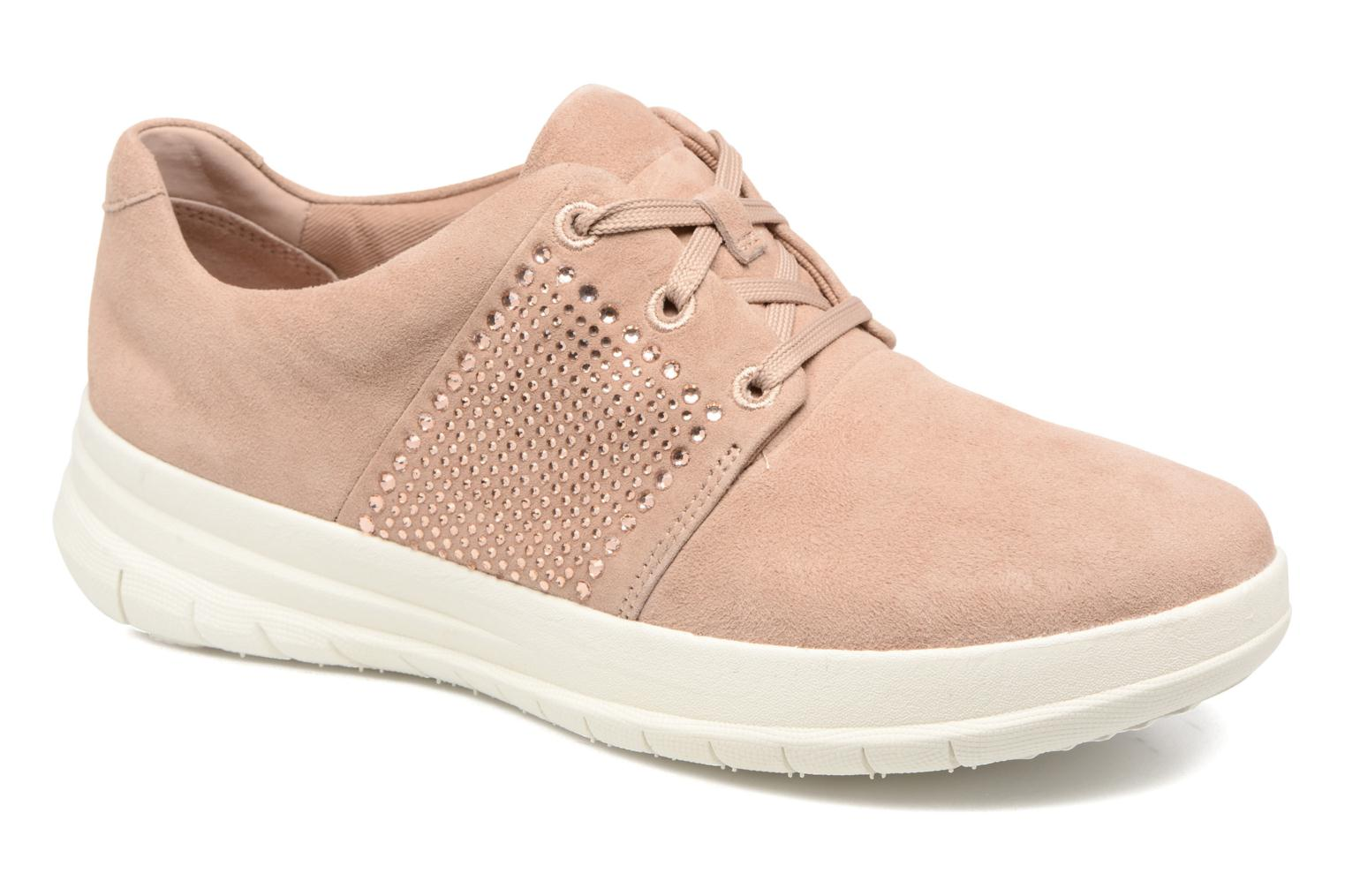 Trainers FitFlop Sporty-Pop X CRYSTAL Sneaker Pink detailed view/ Pair view