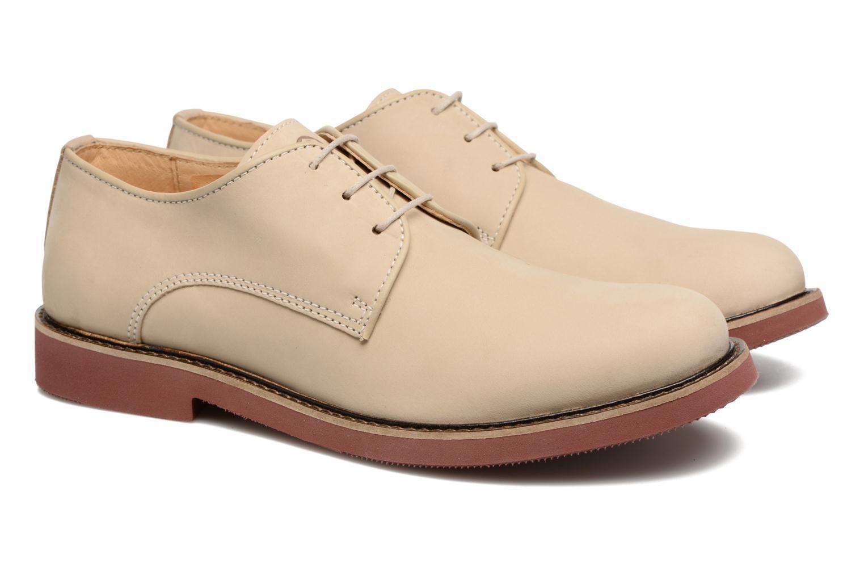 Chaussures à lacets Mr SARENZA Steyr Beige vue derrière