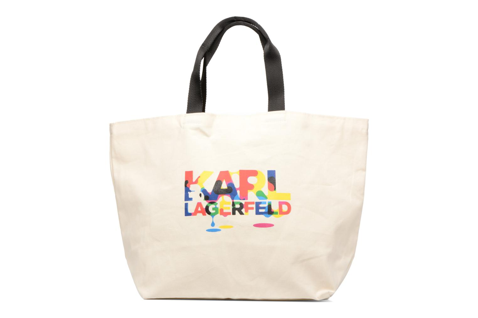 Sacs à main Karl Lagerfeld SW KARL CANVAS SHOPPER Blanc vue face