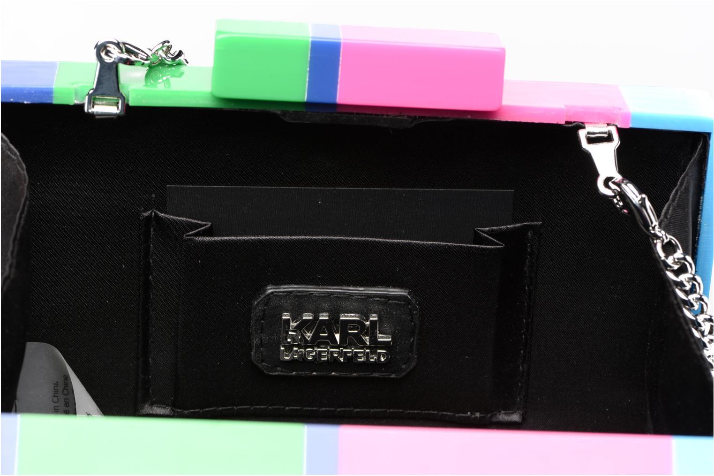 Sacs pochettes Karl Lagerfeld COLOR MINAUDIERE Multicolore vue derrière