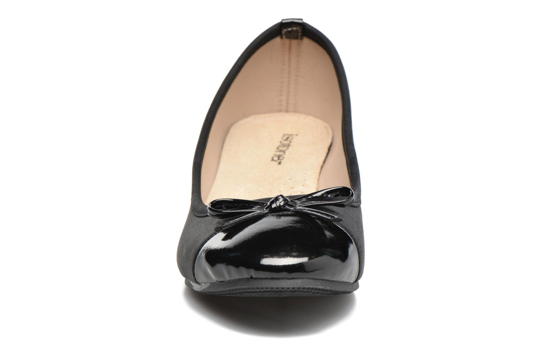 Ballerines Isotoner Ballerine bout verni talon 3,5 cm Noir vue portées chaussures