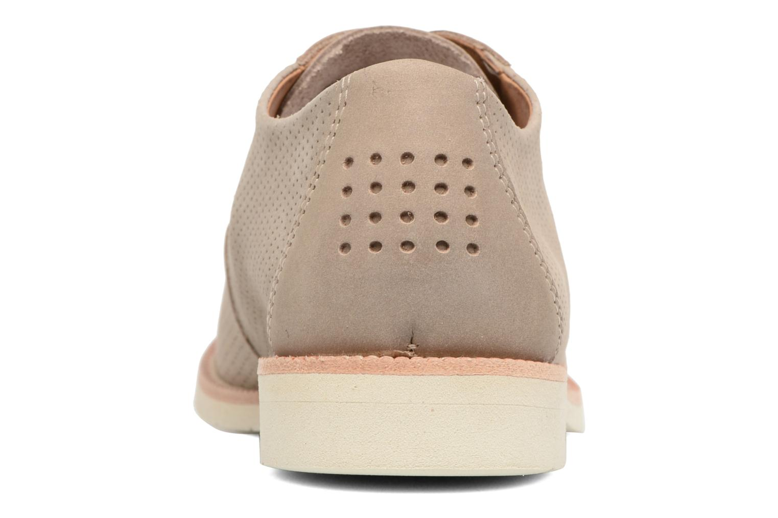 Lace-up shoes TBS Farrah 2 Beige view from the right