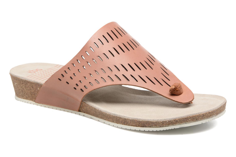 Slippers TBS Klariss Bruin detail