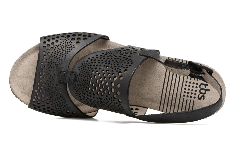Sandales et nu-pieds TBS Koralie Noir vue gauche