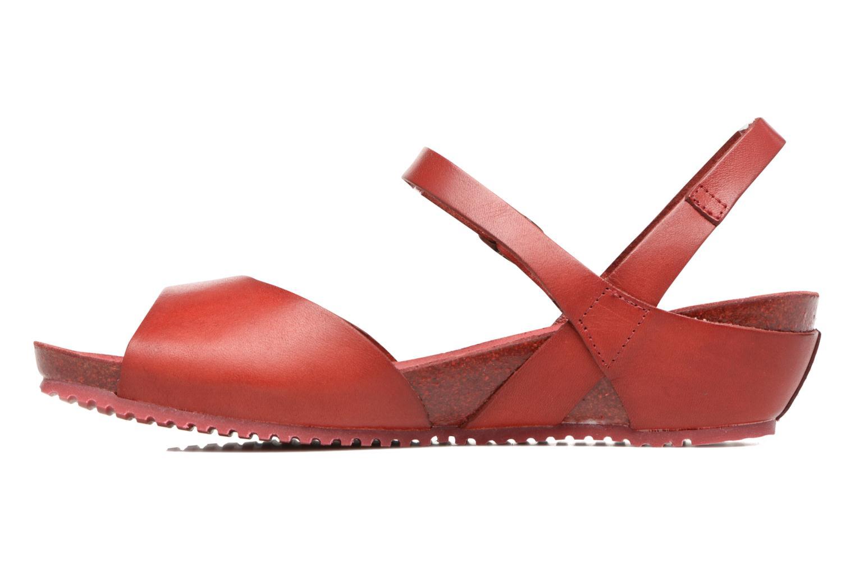 Sandales et nu-pieds TBS Samata Rouge vue face