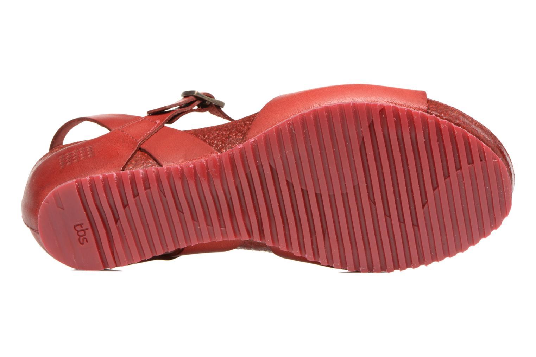 Sandales et nu-pieds TBS Samata Rouge vue haut