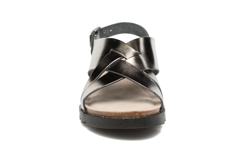 Sandales et nu-pieds TBS Tressie Or et bronze vue portées chaussures
