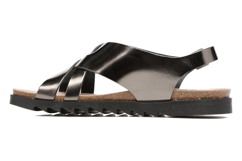 Sandales et nu-pieds TBS Tressie Or et bronze vue face